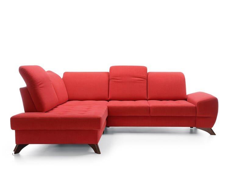 Raudonas, modernus, minkstas kampas Fiesta