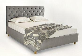 Pilka dvigulė lova Bravo