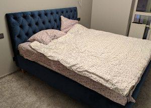 Mėlyna dvigulė miegamojo lova Imperial, klientė atsiliepimas